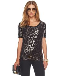 Michael Kors | Black Python-sequin Top | Lyst