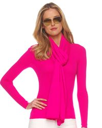 Michael Kors | Pink Featherweight Cashmere Scarf, Neon | Lyst