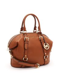 Michael Kors | Brown Medium Bedford Satchel, Luggage | Lyst