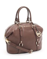 Michael Kors | Brown Bedford Medium Satchel, Mocha | Lyst