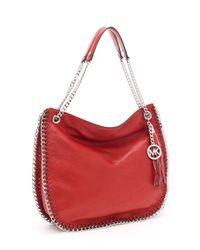 Michael Kors - Large Chelsea Shoulder Bag, Red - Lyst
