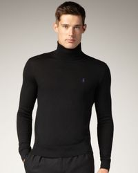 Polo Ralph Lauren | Black Turtleneck Sweater for Men | Lyst