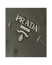 Prada - Gray Sport Anthracite Patent Leather Logo Sneakers - Lyst