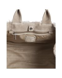 Prada - Natural Beige Mohair Top Handle Tote Bag - Lyst