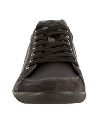Prada - Sport Black And Grey Nylon Suede Trimmed Sneakers for Men - Lyst