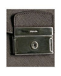 Prada - Brown Coffee Saffiano Leather Cartella Professor Briefcase for Men - Lyst