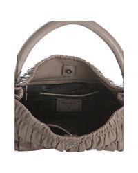 Prada - Gray Argilla Lambskin Gaufre Large Shoulder Bag - Lyst