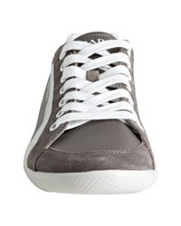 Prada | Gray Sport Grey Nylon Suede Trimmed Sneakers for Men | Lyst