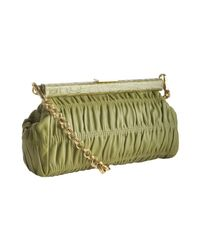 Prada | Green Ivy Quilted Leather Croc Embossed Shoulder Bag | Lyst