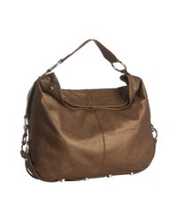 Rebecca Minkoff | Bronze Metallic Nikki Studded Large Hobo | Lyst