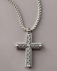 Stephen Webster - Metallic Oxidized Cross Necklace for Men - Lyst