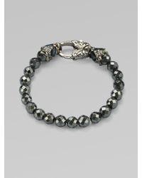 Stephen Webster - Metallic Hematite Beaded Sterling Silver Bracelet - Lyst