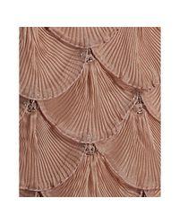 Sue Wong | Brown Sandalwood Beaded Organza Spaghetti Strap Evening Dress | Lyst