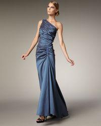 Tadashi Shoji | Blue One-shoulder Taffeta Mermaid Gown | Lyst