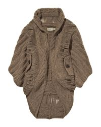 Textile Elizabeth and James | Brown Eleanor Cocoon Cable-knit Cardigan | Lyst