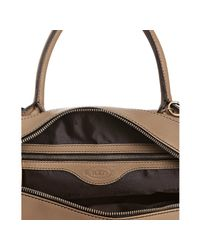 Tod's - Brown Light Tobacco Leather Bauletto D-styling Tote - Lyst