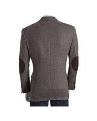 Tommy Hilfiger - Brown Tweed Wool Two-button Lloyd Blazer for Men - Lyst
