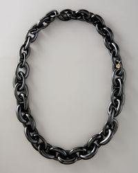 Tory Burch - Chunky Resin-link Necklace, Black - Lyst