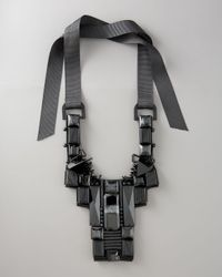 Tory Burch | Black Skyline Bib Necklace | Lyst