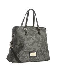Valentino - Gray Grey Lace Print Coated Canvas Convertible Shoulder Bag - Lyst