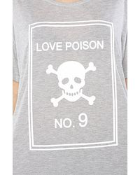 Wildfox - Gray Love Poison Tee - Lyst