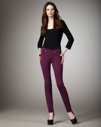 7 For All Mankind | Purple Gwenevere Dark Violet Skinny Jeans | Lyst