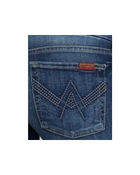Ash - Blue 7 For All Mankind A Pocket with Swiss Dot Bootcut Jeans in Jeanette Wash - Lyst