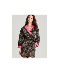 Betsey Johnson | Pink Double Faced Microfleece Robe | Lyst