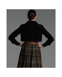 Dolce & Gabbana - Black Wool Cropped Jacket - Lyst