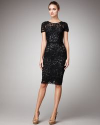 Dolce & Gabbana | Black Short-sleeve Lace Dress | Lyst