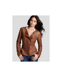 Elie Tahari | Brown Leather Phoebe Jacket | Lyst