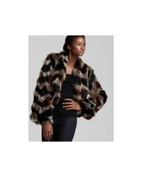 Ella Moss | Brown Keith Faux Fur Jacket | Lyst