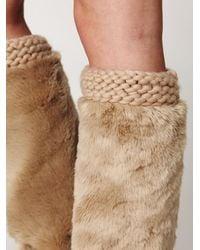 Free People - Natural Fur Legwarmer - Lyst