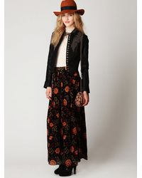 Free People - Black Embellished Vegan Leather Jacket - Lyst