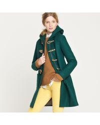 J.Crew | Green Toggle Coat in Wool-cashmere with Thinsulate® | Lyst