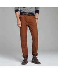 J.Crew | Brown Flannel-lined Tompkins Pant in Vintage Slim Fit for Men | Lyst