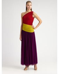 Jean Paul Gaultier | Multicolor Long Colorblock Dress | Lyst
