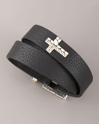 John Hardy - Black Double-wrap Leather Bracelet for Men - Lyst