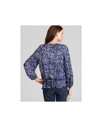 Joie - Blue Lourve Amelie Floral Silk Blouse - Lyst