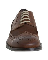 Kenneth Cole | Brown Rust Leather and Suede Hurry Think Distressed Wingtip Oxfords for Men | Lyst