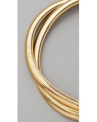 Kenneth Jay Lane - Metallic Two Row Snake Chain Necklace - Lyst