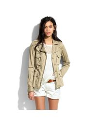 Madewell City Cargo Jacket In Natural Lyst