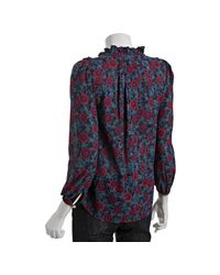Marc By Marc Jacobs | Blue Hana Floral Top | Lyst
