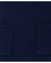 MHL by Margaret Howell - Blue Knitted Pocket Guernsey Jumper - Lyst