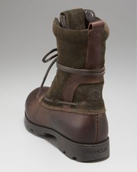 Moncler - Brown Montreal Boot for Men - Lyst