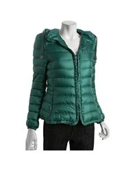 Moncler | Green Quilted Mayotte Down Filled Hooded Jacket | Lyst