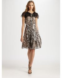 Boutique Moschino | Multicolor Snake Print Chiffon Dress | Lyst