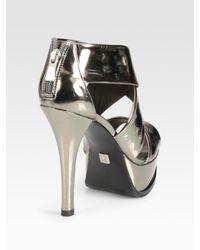 Pour La Victoire | Tifara Metallic Leather Platform Sandals | Lyst