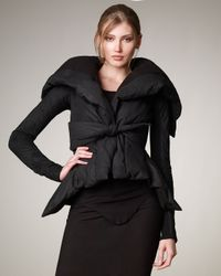 Rick Owens | Black Peplum-hem Puffer Jacket | Lyst
