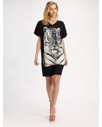 Stella McCartney | Black Tiger T-shirt Dress | Lyst